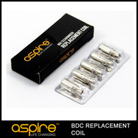 Replaceable resistance:1.8ohm/2.1ohm Metal Wholesale - replacement Coil for Aspire BDC Atomizer bottom dual coil replacement coils CE5 ET s mini vivi nova s maxi factory price