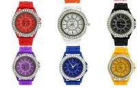 ebay - ebay GENEVA fashion silicone watch diamond quartz watch