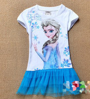 2014 in stock girl kid baby child Princess Elsa Frozen Print...