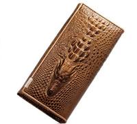 achat en gros de véritable crocodile sacs à main en cuir-100% cuir véritable Crocodile modèle portefeuille femmes de long style de peau de vache sac à main sac à main noble luxueux personnalisé personnalisé alligator