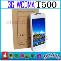 No Brand 4.0 Android T500 Android Cell Phone MTK6572 Dual Core 1.2GHZ With 4.0Inch 800*480 Screen 5.0MP Camera 3G GPS Smart Phone WEIL