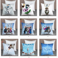 Wholesale Frozen Princess Elsa Anna Fashion Pillow Case CM Cartoon Cushion Cover Multipatterns Both Side Can Choose Fast Shipping B3321