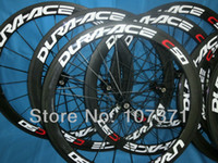 Road Bikes Carbon 12 Inch 1pair DURA-ACE C50 road 3K full carbon bike wheelset tubular rim carbon bicycle wheelset 700C(50mm)+spokes+hubs+free shipping