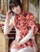 Wholesale 2014 New Fashion Sexy Hot Lips Novelty Designer Scarf Cheap Ladies Neckerchief Scarf WJ190