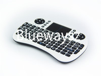 Wholesale HOT I8 Fly Air Mouse G Mini Wireless Keyboard Mouse White and Black USB Cable Retail packingTouchpad for PC Notebook Android TV Box