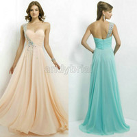 New Arrival 2014 Stunning Sexy One- Shoulder Prom Dresses Cry...
