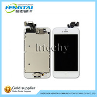 For Apple iPhone 5S LCD Screen Panels For iPhone 5S LCD Complete Wholesale - Black White LCD Display & Touch Screen Digitizer Full Assembly for iPhone 5S Replacement Repair Parts
