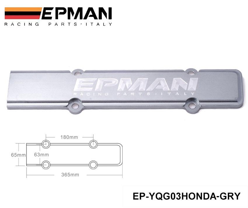 EPMAN ENGINE SPARK PLUG WIRE COVER GREY FOR HONDA / ACURA DOHC ...