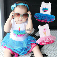 Girl Summer 100% Cotton Infant Wear One Piece Clothing Baby One Piece Romper Fashion Tutu Skirt Jumpsuits Kids Climb Clothes Toddler Sleeveless Jumpsuit ATS40327-17