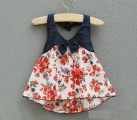 Girl Summer  New arrival baby girl Sandy beach Floral Halter Vest sling Camisole Suspenders Harnesses Top kids summer tops