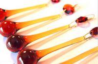 amber glass chandeliers - 20 AMBER GLASS CHANDELIER RAINDROP CRYSTAL PRISMS PENDANTS