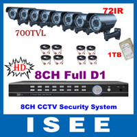 Box/Body SST-8608LH-I90E HD outdoor CCTV security system HD 8CH Full D1 DVR 700TVL 72IR Varifocal Sony CCD Effio Outdoor HDMI CCTV Security Camera System With 1TB HDD Freeshipping