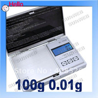 Pocket Scale <50g Guangdong China (Mainland) Mini Pocket electronic 100g x 0.01 Jewelry Gram Balance Weight Digital Scale free shopping 1443