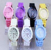 Wholesale 10pcs Shadow Unisex Geneva Quartz watch fashion rubber candy jelly silicone watch