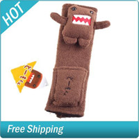 Wholesale Cute Domo Design Car Seat Belt Cover with Pocket
