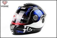 Wholesale 2014 Moto Racing helmets YOHE Full Face helmets YH RR3 Motorcycle helmet motorbike helmet off road helmet Glass fiber reinforced plastic