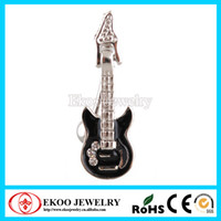 Wholesale Guitar Rhinestone Barbell Navel Belly Ring Button Barbell Belly Bar Body Piercing