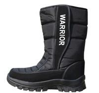 Wholesale Winter Men s fashion cotton black boots waterproof super warm shoes for men Top quality US7 XMM010