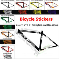 bicycle reflective gear - GIANT XTC FR Frame Stickers Bicycle Frame Tube Sticker Reflective Paper Fixed Gear MTB Bike Stickers