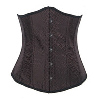 Women Corset & Bustier Christmas Hot Selling Sexy Lace up back Woman Lingerie Corsets Busiter Brown Full Boning Intimates Corset For Trainging waist G-string Plus Size