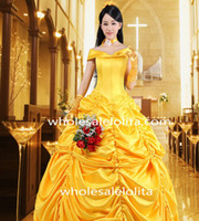 Wholesale Steampunk Bustle Yellow Dress Victorian Dresses for sale Wedding Dress Prom Dress Special Occasion Dresses