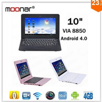 Wholesale Colourful inch Notebook Laptop Android OS VIA GHz Cortex A9 DDR3 MB HDMI Front Camera Wifi HD P