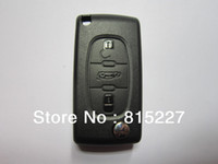 Wholesale In stock Buttons Remote Flip Folding Key Shell Case For Citroen C4 C5 Without Groove HKP