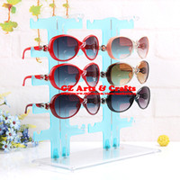 Other Glasses Glass, Crystal Removable Multicolor Plastic Glasses Display Rack 10 Pairs Sun Glasses Shelf Display Stand