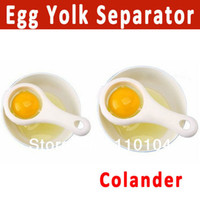 Wholesale 2pcs egg separator colander egg yolk divider kitchen cooking tools gadgets