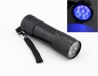 395nm UV LEDs NO 3 x AAA battery Wholesale 50pcs_Hot 9 LED UV Flashlight UV LED Torch light 395nm Ultra Violet Lamp DHL free shipping