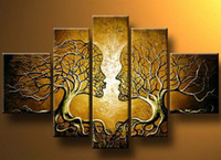 More Panel abstract portrait painting - oil painting Portrait Couple Tree Love Tree modern abstract high quality hand painted Oil Painting home hotel wall art decor