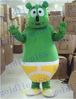 Wholesale New Custom made green gummy bear hot sale free ship Mascot Costume cartoon Halloween