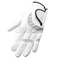 Wholesale New White Microfiber Cloth Golf Gloves Men s Golf Gloves The Left Hand Tour Preferred Size M TK0802
