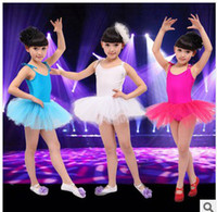 ballet dance competition - New children dance costumes princess ballet tutus dress stage wear competition practicing dancing gauze dress clothes dance clothing pt001