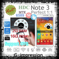"5.7 Android 2G 2014 new Note3 Note 3 phone Note III phone 1:1 HDC N9000 phone Android4.3 MTK6589T Quad core phone 5.7"" 1280*720 2GB RAM 32G ROM"