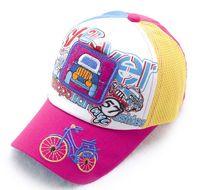 mesh snapback hats - boy and girl snapback baseball caps cartoon pattern hats children mesh cap