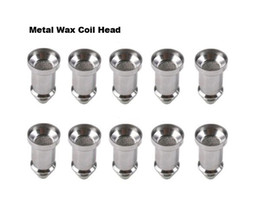 Cheapest Metal Wax Coil Head Glass Globe Atomizer Core Dry Herb Vaporizer Coil Head for replacement glass globe Clearomizer Wax Vaporizer