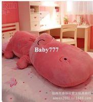 Cheap Creative cute hippo pillow cartoon plush toys doll dolls for girls huge stuffed animal Christmas gift for kid big size 80cm