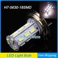 Wholesale 2PCS Newest SMD LED H7 Fog Light Car Daytime Lights High Power DRL Headlight Bulb