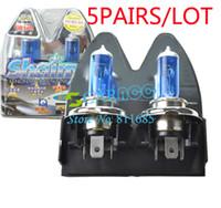 Turn Signals Honda Halogen Lights New 5Pairs Lot Super White Light 2x 9003 H4 6000K Xenon Car HeadLight Lamp Bulb Halogen Light 2717