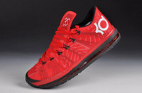 Wholesale Top Quality Fire Red Colors KD Elite Mens Sports Basketball Shoes Black Air Cushion Sole Size