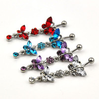 wholesale belly rings - belly button ring new style with mix colors