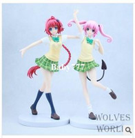 Multicolor japanese love doll - 2pcs set to love ru FURYU DARKNESS sexy vivid japanese anime marvel action figures figure Beauty girl model doll boys toys toy