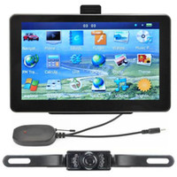 Wholesale 7 quot Car GPS Navigation Wireless Reverse Camera Bluetooth AV IN New Map GB POI