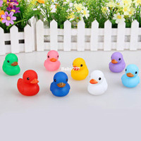 Multicolor Wood Key Cute Baby Girl Boy Bath Bathing Classic Toys Colourful Duck 8pcs lot Rubber Model Toy for Baby Kids
