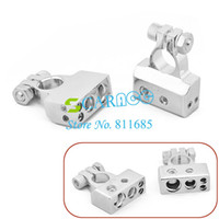 Wholesale Silvery Car Battery Terminal Gauge Positive And Negative SET battery accessories TK0505