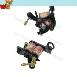 Wholesale 2pcs New Hot Black Carbon Steel Manual Tattoo Machine Gun Professional Tattoo For Liner