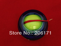 Wholesale 20pcs Grip Spin CML Powerball Power Gyroscope handball Wrist Ball Power Ball With Massager and led light Black band DHL free