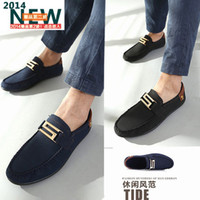 creepers - TADE Summer New Soft flats men suede leather male Moccasins loafers boat shoes slip on creepers canvas diving shoe casual sneakers mens