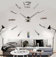 Wholesale cm cm in Large Mental D Big Size Home Decor Sticker Wall Clock W003